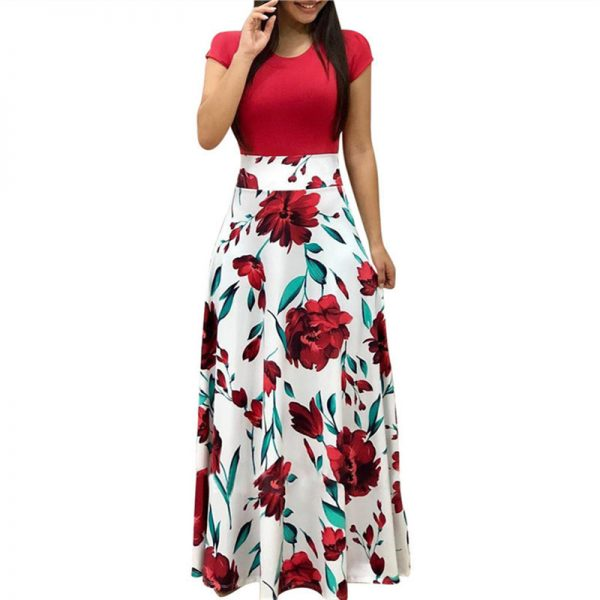 wholesale price new lifestyle huge selection of HilloRill Floral Printed Long Dress – StyleLanka