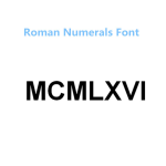 ND002-Roman Numerals